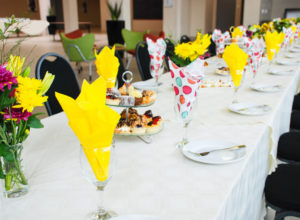Event day table setting